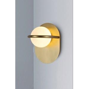 LAMPA DE PERETE GIRO AURIU - GLOB STICLA ALBA