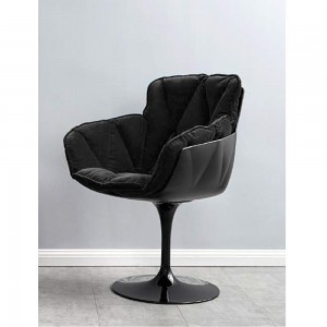 Scaun Premium Bubble One Tapitat Negru + Structura exterioara neagra si picior negru