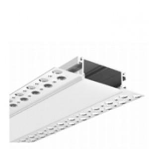 PROFIL ALUMINIU PENTRU LED ÎNGROPAT GIPS CARTON 3ML LL081-R