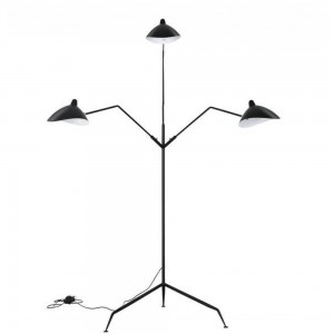 LAMPA DE PODEA THREE ARMS NEGRU