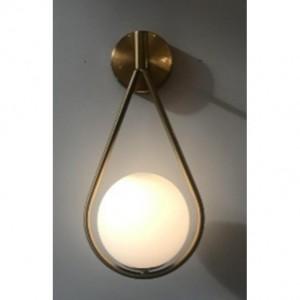LAMPA DE PERETE GIRO UNO AURIU - GLOB STICLA ALBA