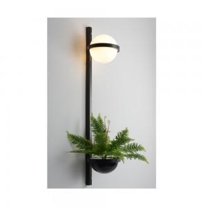 LAMPA DE PERETE IRIS WP-2A NEGRU - GLOB ALB