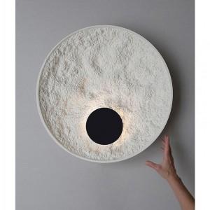 LAMPA DE PERETE MOON DIA 50CM ALB + NEGRU