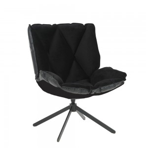 Scaun Premium Bubble Tapitat Negru + Structura exterioara neagra si picior negru