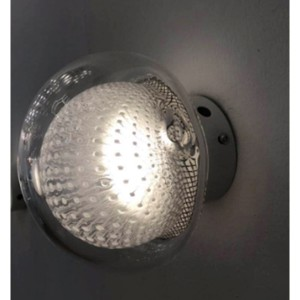 LAMPA DE PERETE SALIS - GLOB ALB + TRANSPARENT
