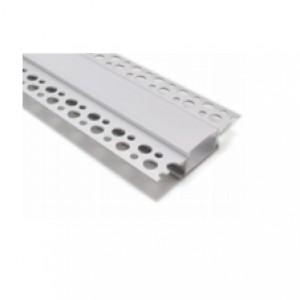 PROFIL ALUMINIU LL071-R PENTRU LED - INGROPAT GIPS CARTON / 2,5 ML